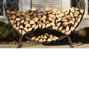 Amazon Com Crescent Firewood Rack W Cover Outdoor