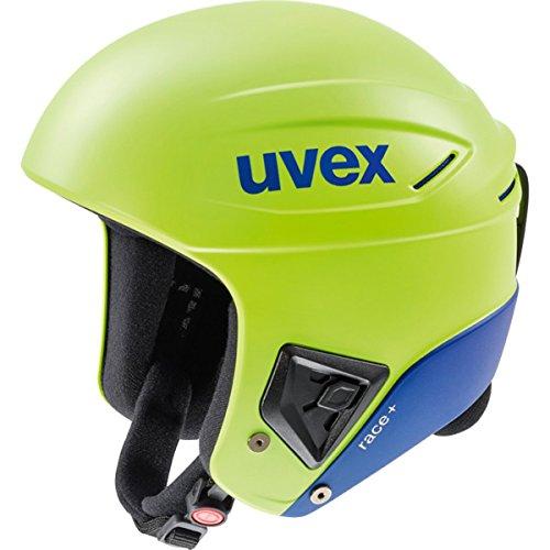 - Uvex Race+ Winter Sports/Ski Helmet - Multi Color - 566172 (Lime-Cobalt mat - 53-54)