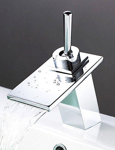 WasserfaÖl Zeitgenössischen Waschbecken Wasserhahn - Chrom-Finish