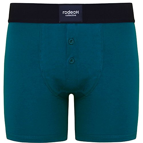 RodeoH Teal Button Fly Packer Boxer Underwear FTM Transgender (XL = 39-41) -