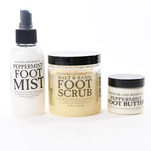 (All Natural Pedicure Spa Gift Set - Salt Scrub, Foot Mist and Lotion Bundle)