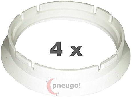 4 X Zentrierringe Kunststoff 63 3mm Auf 57 1mm Weiss Auto