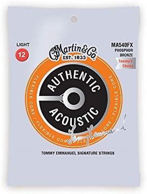 Martin MA540FX- Juego de cuerdas para guitarra acústica de fósforo/bronce y zinc
