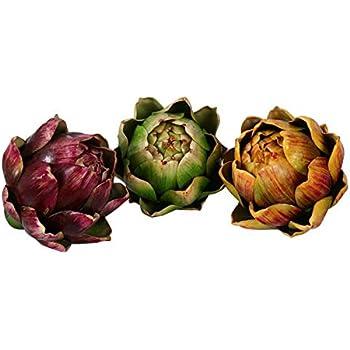 Skyseen 3PCS Artichoke Artificial Flower Fake Vegetables, 4.33.9Inch