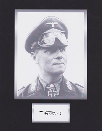 General Erwin Rommel WWII Hero 8 X 10 Autograph Photo on Glossy Photo Paper