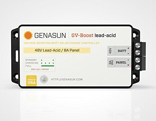 Genasun GVB-8-Pb-48V, GV-Boost 8 Amp 48 Volt MPPT Solar Boost Charge Controller for Lead Acid Batteries by Genasun (Image #1)