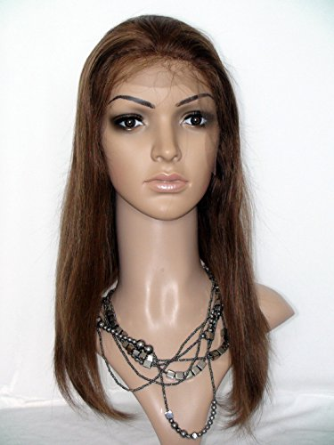 """B00YOP6KIS Beautiful 12"""" Full Lace Wig Human Hair Under 100 For Black Women Philippine Virgin Remy Human Hair Natural Straight Color #4 4132BAowmIDL"""