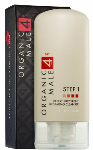 Organic Male OM4 Dry STEP 1: Desert Succulent Hydrating Cleanser - 5 oz