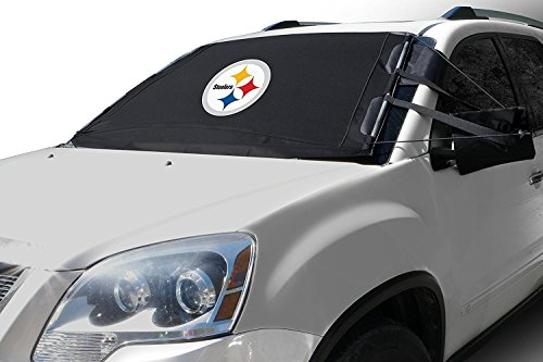 FrostGuard NFL Premium Winter Windshield Cover for Snow, Frost and Ice - Cold Weather Protection for Your Vehicle - Pittsburgh Steelers, Standard Size