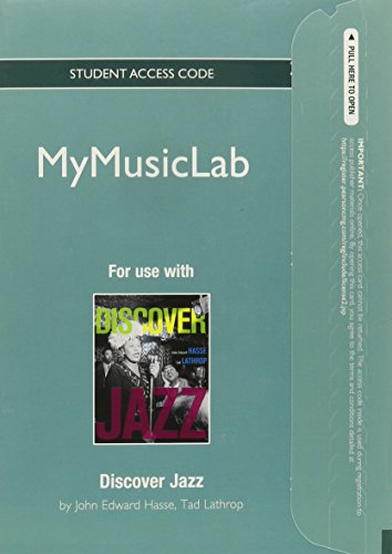 NEW MyLab Music without Pearson eText -- Standalone Access Card -- for Discover Jazz (Discover Alerts Card Text)