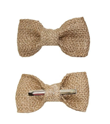 amy2004marie Toddler Boy 3T 4T Burlap Clip On Bow Tie Rustic Wedding by amy2004marie