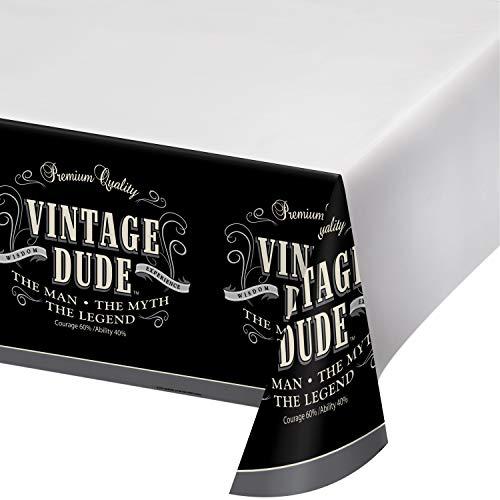 Vintage Dude Plastic Tablecloths, 3 ct]()