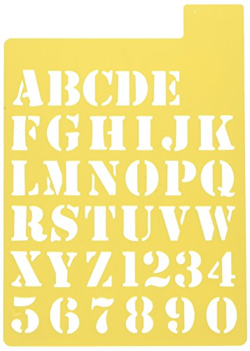Darice 121725 Upper Case Alphabet Stencil, 3 Fonts in 1, 1-Inch by Darice (Image #2)
