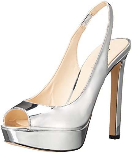 Nine West Women's Valorie Patent Dress Pump - Silver - 6....
