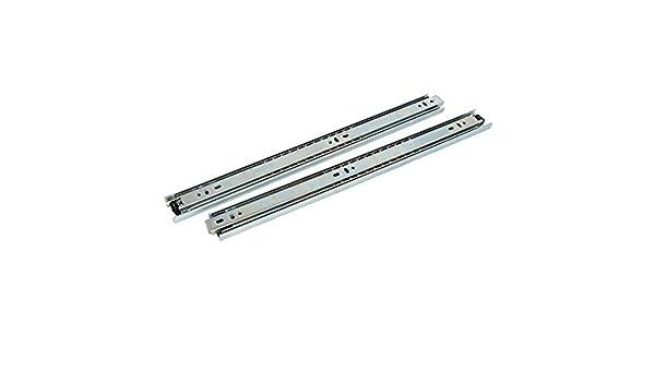 eDealMax 18 pulgadas Longitud 40 mm Anchura 3-Sección cojinete de bolas Cajones tono de plata 2pcs - - Amazon.com