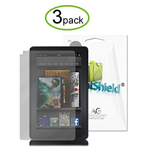 Price comparison product image GreatShield Ultra Anti-Glare (Matte) Clear Screen Protector Film for Amazon Kindle Fire, 3 Pack (does not fit Kindle Fire HD)