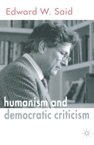 Humanism and Democratic Criticism