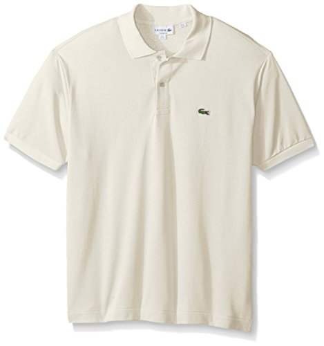 Lacoste Men's Classic Short Sleeve L.12.12 Pique Polo Shirt,French Vanilla Cream,X-Large