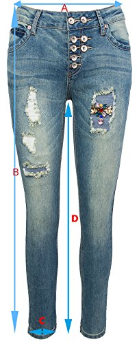 Creek Jeans Selection Donna Rock Blau Skinny vEdwaHaq