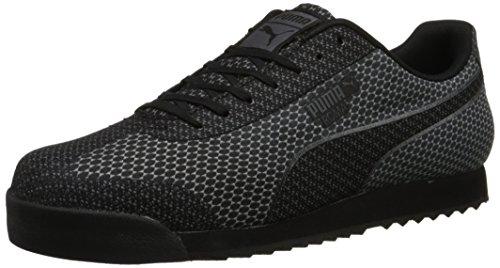 puma-mens-roma-woven-mesh-lace-up-fashion-sneaker-black-steel-gray-11-m-us
