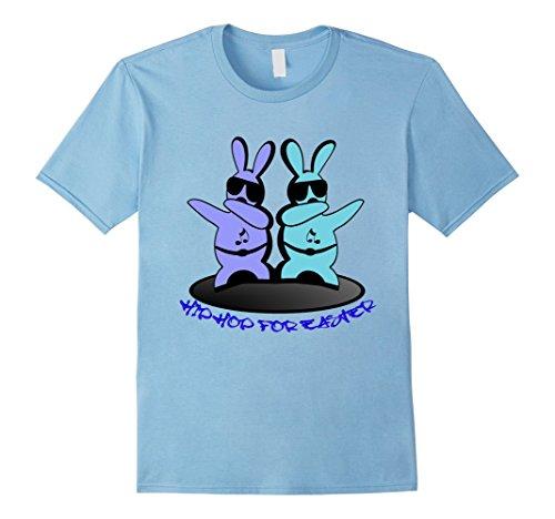 Men's Hip Hop Rabbit Bunny Easter Boys Teen Kids Men Adults Shirts 2XL Baby Blue (Hip Hop Dance Costumes For Teenagers)