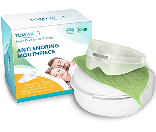 Snore Stopper Mouthpiece - Snoring Solution, Sleep Aid Night Mouth Guard Bruxism Mouthpiece, Best anti snoring device, sleep well and quiet sleeping night