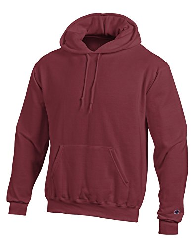 Hooded Basketball (Champion Adult Pullover Hooded Sweatshirt, Maroon, Medium)