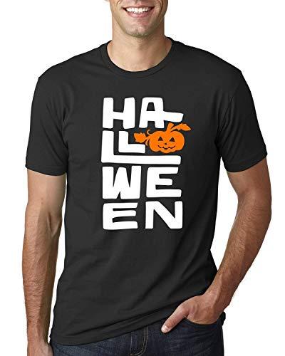 Halloween T shirt For Men Boo Funny Shirt Pumpkin Design ()