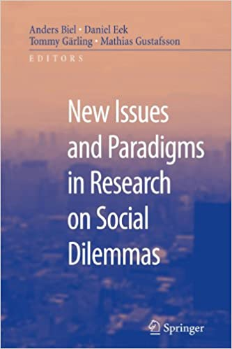 Svensk lydbok gratis nedlasting New Issues and Paradigms in Research on Social Dilemmas (Norwegian Edition) PDF 1441944443