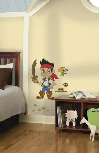 Roommates Rmk1793Gm Disney Jake And The Neverland Pirates Peel And Stick Giant Wall (Jake The Pirate Stickers)