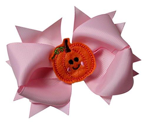 Girls Halloween and Thanksgiving 4.5 Inch Grosgrain Hair Bow (Precious -
