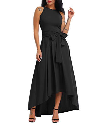 071175c5c9b Lalagen Womens Plus Size Sleeveless Belted Party Maxi Dress Cardigan ...