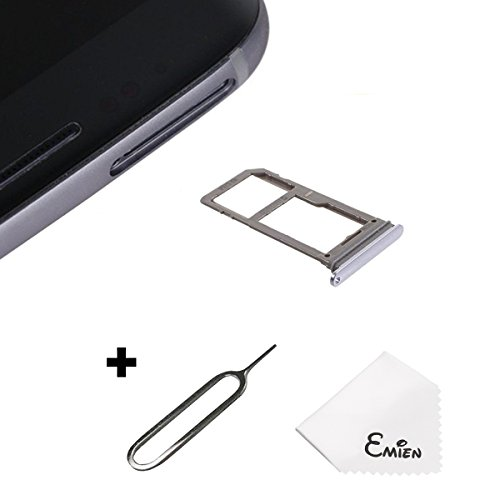 EMiEN Single SIM Card Tray Slot Holder Replacement for Samsung Galaxy S8 G950 / S8 Plus G955 (ALL CARRIERS) + SIM Card Tray Open Eject Pin (Orchid Gray)