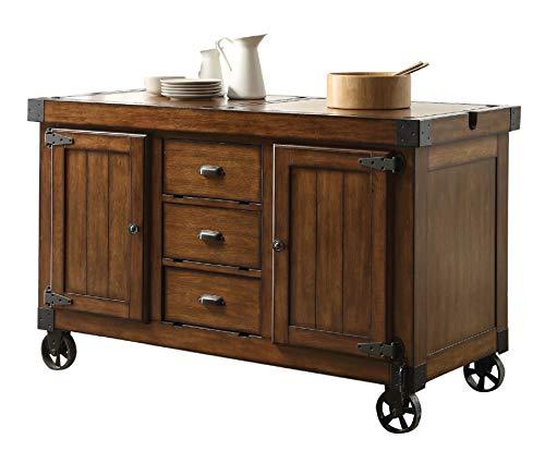 kitchen island cart industrial rustic majorq 57 amazoncom