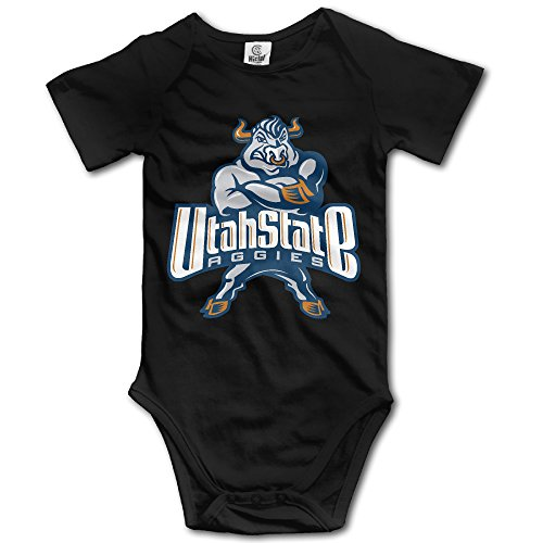 Price comparison product image OOKOO Baby's Utah State University Aggies Bodysuits Black 24 Months