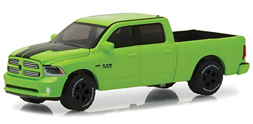 2017 Dodge Ram 1500 Sport Pickup Truck Sublime Green Pearl Coat Special Edition Hobby Exclusive 1/64 Diecast Model Car by Greenlight 29927