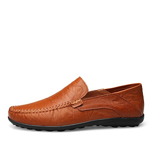 Brown Antiscivolo moda Color Mocassini amp;Baby 46 da Red Slipper Nero EU Sunny uomo Dimensione casual di On design Loafer Slip Driving morbidi alla BZWcanSq
