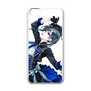 Black Butler iPhone 5c Cell Phone Case White TPU Phone Case SV_079181