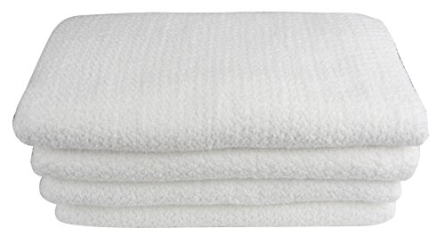 Everplush Diamond Jacquard Bath Sheet 2 Pack in White by Everplush (Image #6)
