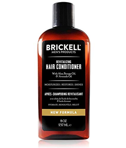 Brickell Mens Revitalizing Hair Conditioner for Men, Natural and Organic Nourishing Hair Conditioner, Restores Shine and Moisture, 8 Ounce, Scented, New Formula