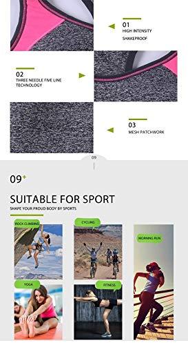Para Sakj 3 Gimnasio Mujer Camisa Pantalones De L Ropa Deportiva Conjuntos Correr Sujetador c Piezas Yoga Deportes Pr5q7P