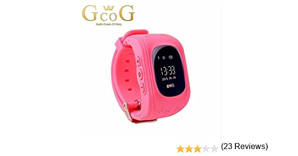 Turnmeon - Smartwatch para niños, con SIM, GPS, monitor antipérdida, SOS, chat por voz, GPRS y aplicación de control rosa rosa small
