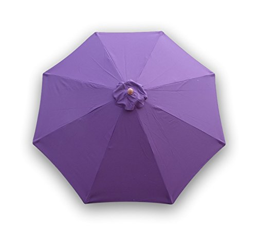 Formosa Covers 9ft Umbrella Replacement Canopy 8 Ribs in Purple (Canopy Only)