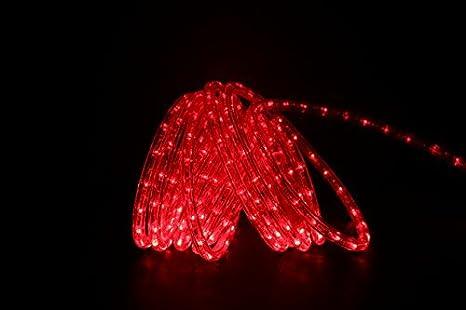 Amazon dd brand 24ft red led rope light expandable to 100 dd brand 24ft red led rope light expandable to 100 ft 120v 2 aloadofball Gallery