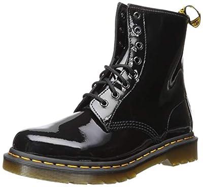 Dr. Martens Women's 1460 Patent Leather Combat Boot, Black, 5