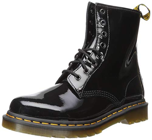Dr. Marten's Women's 1460 8-Eye Patent Leather Boots, Black Patent Lamper, 8 B(M) US