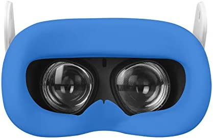 Washable VR Silicone Cover Eye Pad Sweat-Proof Fits Oculus Quest 2 Lightproof Non-Slip