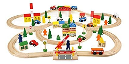 Amazoncom Small Foot Company Wooden Railway Large By Small Foot