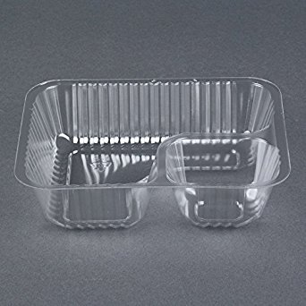 Nacho Tray 6x5 - 2 Compartment - 25/pk (Pack of 2)