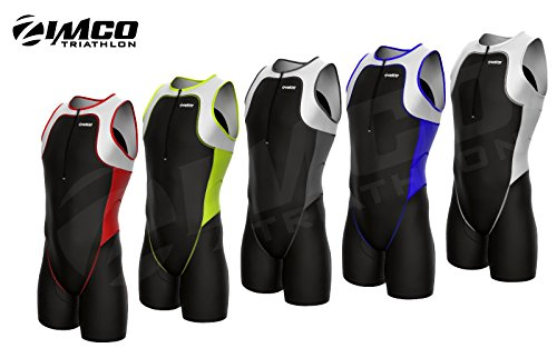 Zimco Elite Men Triathlon Suit Racing Tri Suit Triathlon Short Tri Swim Run (Black/Blue, 3XL) (Super Tri Suit Elite)